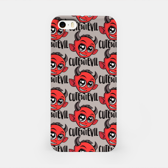 Cute But Evil Pattern iPhone Case Bild der Miniatur