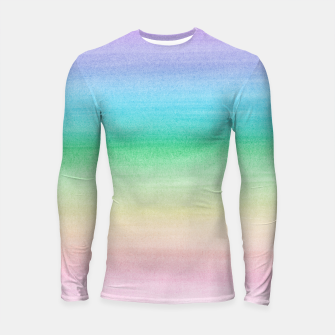 Imagen en miniatura de Pastel Unicorn Rainbow Watercolor Dream #1 #painting #decor #art Longsleeve rashguard, Live Heroes