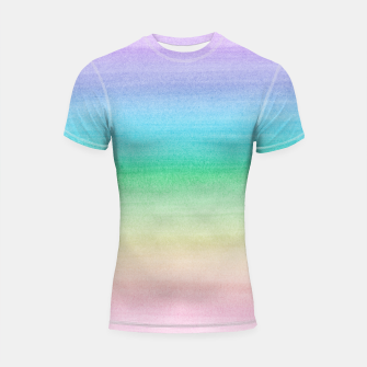 Imagen en miniatura de Pastel Unicorn Rainbow Watercolor Dream #1 #painting #decor #art Shortsleeve rashguard, Live Heroes