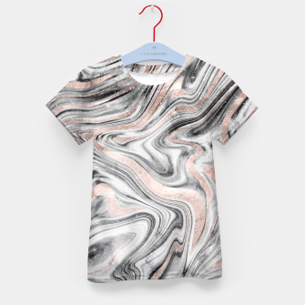Bohemian Marble Dream #2 #decor #art T-Shirt für kinder obraz miniatury