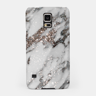 Classic White Marble Silver Glitter Glam #1 (Faux Glitter) #marble #decor #art  Handyhülle für Samsung thumbnail image
