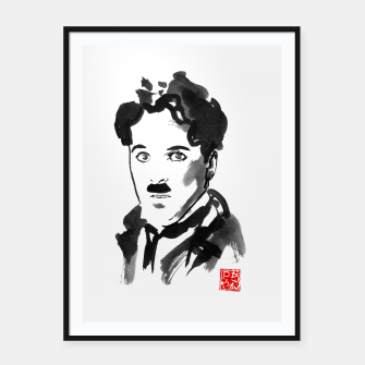 Thumbnail image of charlie chaplin Framed poster, Live Heroes