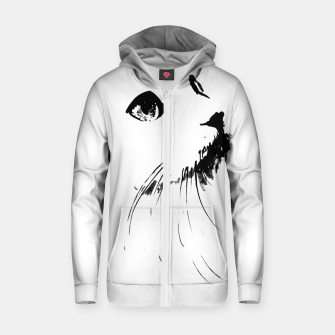 white cat Zip up hoodie thumbnail image