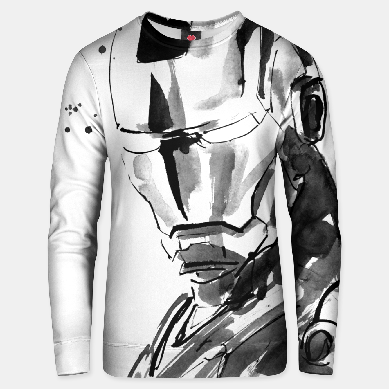 Image of ironman face Unisex sweater - Live Heroes