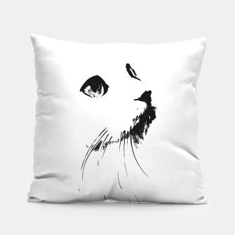 white cat Pillow thumbnail image