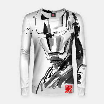 Thumbnail image of ironman face Women sweater, Live Heroes