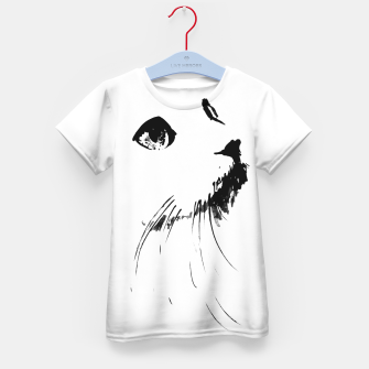 white cat Kid's t-shirt thumbnail image