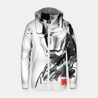Thumbnail image of ironman face Zip up hoodie, Live Heroes