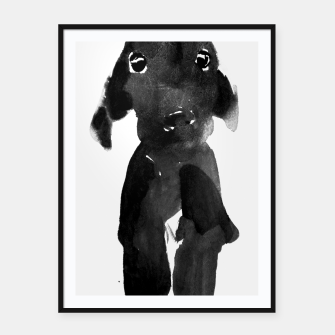 Thumbnail image of cute dog Framed poster, Live Heroes