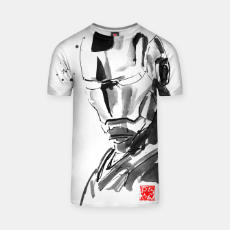 Thumbnail image of ironman face T-shirt, Live Heroes