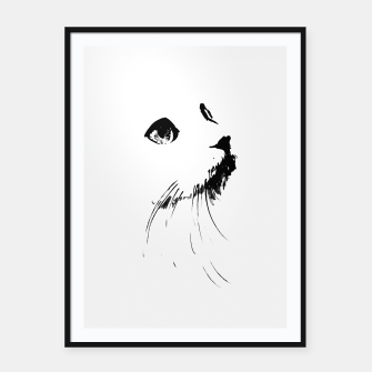 white cat Framed poster thumbnail image