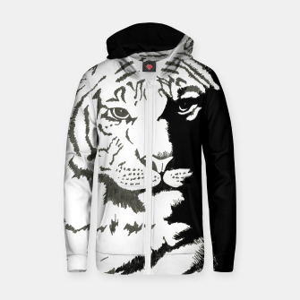 Thumbnail image of tiger zipped hoody, Live Heroes