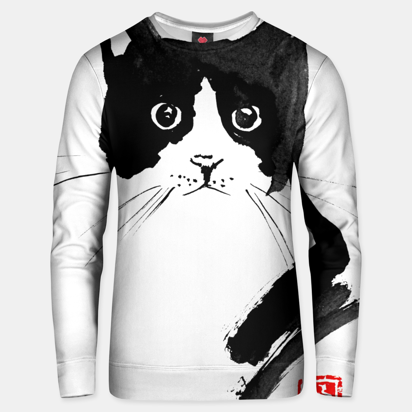 Image of stray cat Unisex sweater - Live Heroes
