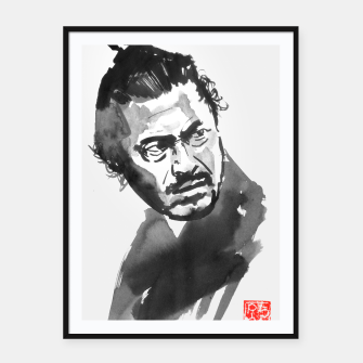 Thumbnail image of toshiro mifune the samurai Framed poster, Live Heroes