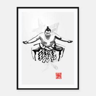Thumbnail image of sumo Framed poster, Live Heroes