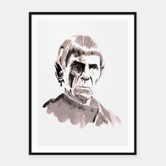 Thumbnail image of spock Framed poster, Live Heroes