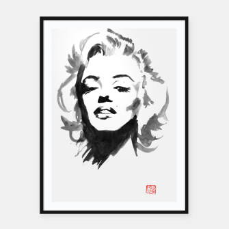 Thumbnail image of marilyn monroe Framed poster, Live Heroes