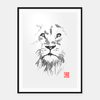 Thumbnail image of lion Framed poster, Live Heroes