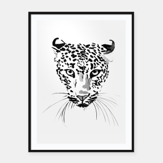 Thumbnail image of leopard Framed poster, Live Heroes