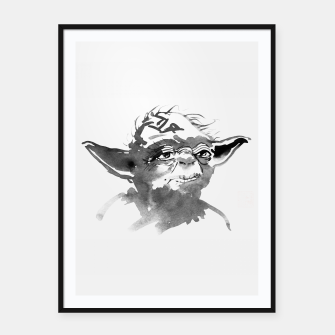 Thumbnail image of yoda Framed poster, Live Heroes