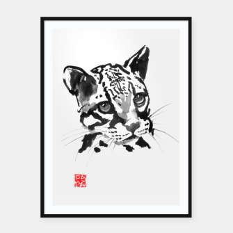 Thumbnail image of baby leopard Framed poster, Live Heroes