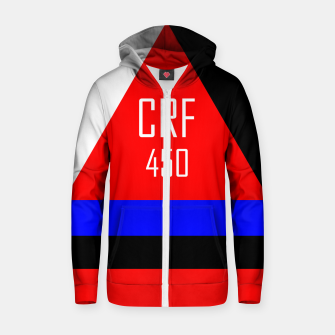 Thumbnail image of CRF 450  Zip up hoodie, Live Heroes