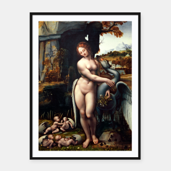 Thumbnail image of Leda and the Swan by Francesco Melzi Framed poster, Live Heroes