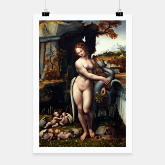 Thumbnail image of Leda and the Swan by Francesco Melzi Poster, Live Heroes
