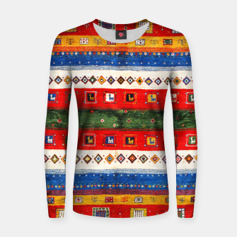 Thumbnail image of Colored Bohemian Vintage Traditional Moroccan Artwork Women sweater, Live Heroes