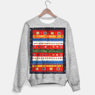 Miniatur Colored Bohemian Vintage Traditional Moroccan Artwork Sweater regular, Live Heroes