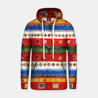 Thumbnail image of Colored Bohemian Vintage Traditional Moroccan Artwork Hoodie, Live Heroes