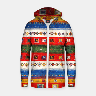 Thumbnail image of Colored Bohemian Vintage Traditional Moroccan Artwork Zip up hoodie, Live Heroes