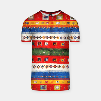 Thumbnail image of Colored Bohemian Vintage Traditional Moroccan Artwork T-shirt, Live Heroes