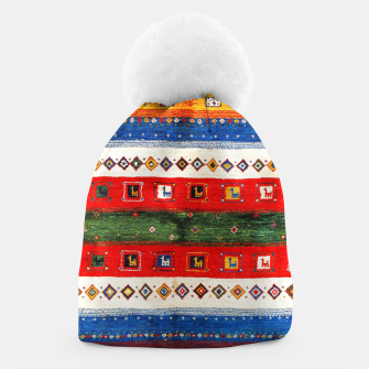 Thumbnail image of Colored Bohemian Vintage Traditional Moroccan Artwork Beanie, Live Heroes