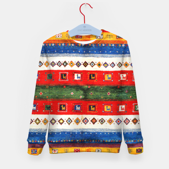 Thumbnail image of Colored Bohemian Vintage Traditional Moroccan Artwork Kid's sweater, Live Heroes