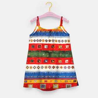 Miniatur Colored Bohemian Vintage Traditional Moroccan Artwork Girl's dress, Live Heroes