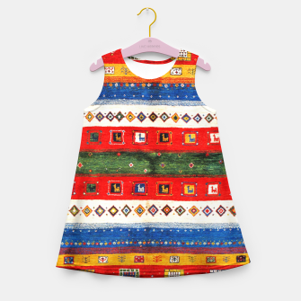 Miniatur Colored Bohemian Vintage Traditional Moroccan Artwork Girl's summer dress, Live Heroes