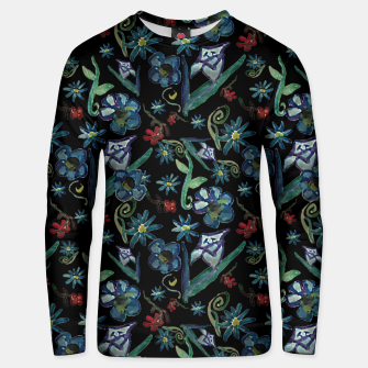 Imagen en miniatura de Watercolor Flowers On Black Unisex sweater, Live Heroes