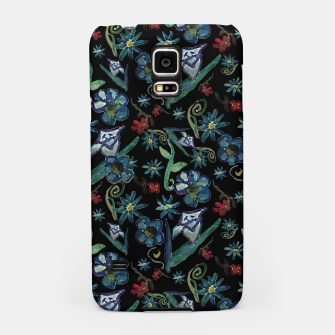 Imagen en miniatura de Watercolor Flowers On Black Samsung Case, Live Heroes