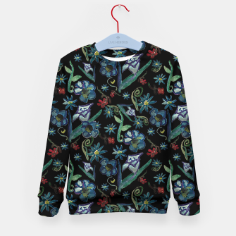Imagen en miniatura de Watercolor Flowers On Black Kid's sweater, Live Heroes