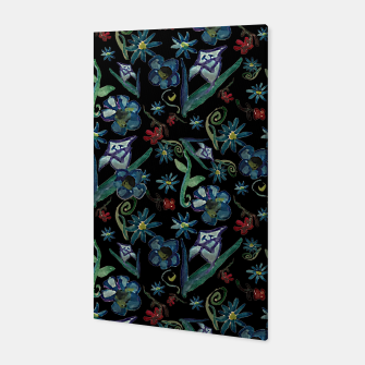 Imagen en miniatura de Watercolor Flowers On Black Canvas, Live Heroes