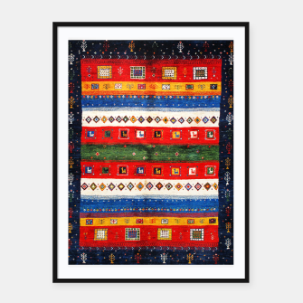 Thumbnail image of Colored Bohemian Vintage Traditional Moroccan Artwork Framed poster, Live Heroes