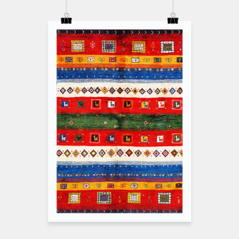 Thumbnail image of Colored Bohemian Vintage Traditional Moroccan Artwork Poster, Live Heroes