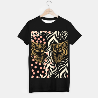 Miniatur Wild Animal Camiseta Regular, Live Heroes