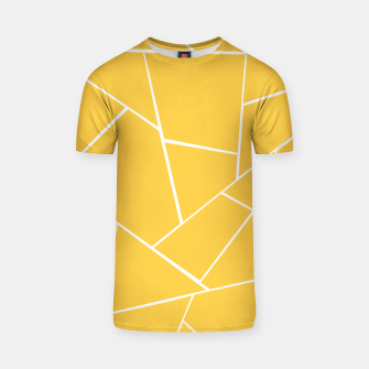 Thumbnail image of Yellow White Geometric Glam #1 #geo #decor #art  T-Shirt, Live Heroes