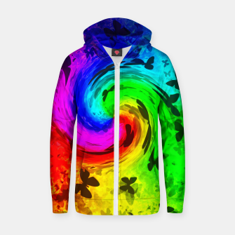Thumbnail image of butterfly equinox zipped hoody, Live Heroes