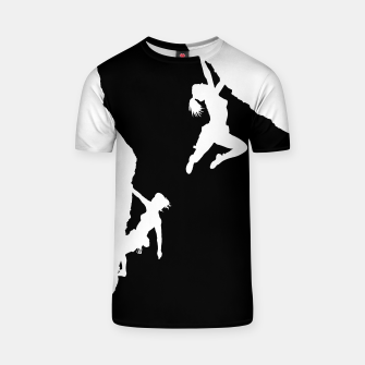 Thumbnail image of women rock climbing t shirt, Live Heroes
