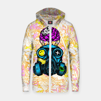 Gas Mask Zip up hoodie thumbnail image