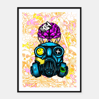 Gas Mask Framed poster thumbnail image