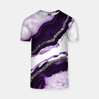Thumbnail image of Agate Glitter Glam #12 #gem #decor #art T-Shirt, Live Heroes